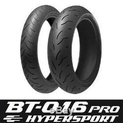 Motorcycle Tyres Bridgestone Battlax BT016 Pro 120/70/ZR17 & 180/55/ZR17 Pair