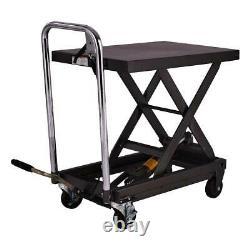 Motorcycle Workshop Hydraulic Engine Bike Lift Jack Bed Table 1000 lbs 500kgs