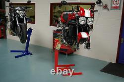 Motorcycle lift, Motorbike stand, Eazyrizer Original Red, Guaranteed for Life
