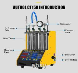 NEW CT150 Petrol Fuel Injector Ultrasonic Cleaner Tester Machine Car Motorcycle