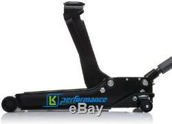 New Dual Pump 3 Ton Low Profile Trolley Jack Hydraulic Car Van Garage Heavy Duty