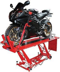New Heavy Duty Hydraulic Motorcycle Mechanics Garage Workshop Table Bench Lift