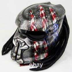 Predator DOT Approved Alien vs Predator Custom AVP Motorcycle Helmet USA SELLER