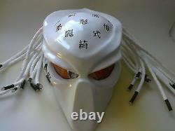 Predator Inspired Custom Fiberglass Motorcycle Helmet Size S M L