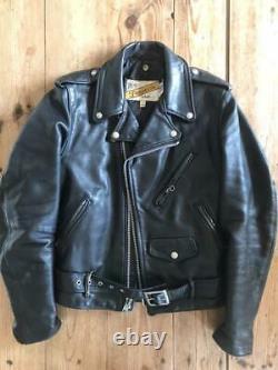 Schott 618 perfecto double leather jacket 34 racer motorcycle steerhide
