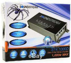 Soundstream St4.1000d Motorcycle 4channel 1000w Max Component Speakers Amplifier