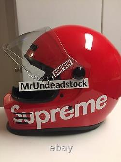 Supreme X Simpson Street Bandit Motorcycle Helmet IN HAND READY TO SHIP Large