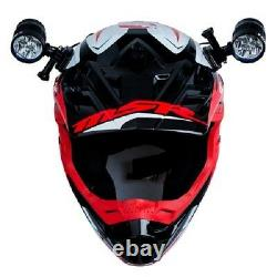 Tusk LED Helmet Light Kit 2 Lights 4 Batteries Motorcycle Dirt Bike ATV UTV SXS