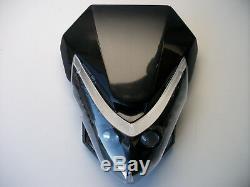 Universal Streetfighter Enduro Motorcycle Headlight Alien Led Custom Gsxr Zxr