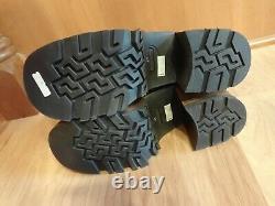 Vtg Destroy Platform Ankle Boots Brown Leather US 9.5 EU 41 Made in Spain UNWORN