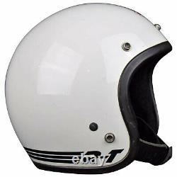 Vtg Original'81 Bell Rt Magnum Toptex Motorcycle Car Racing White Helmet 7