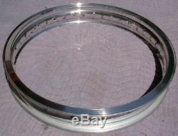 WM3 2.15 X 19 -40 hole Akront/Italian style flanged alloy vintage motorcycle rim