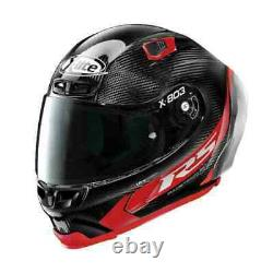 X-Lite X803 RS Red Carbon HOT LAP Removable Spoiler Motorbike Helmet + Visor WQ