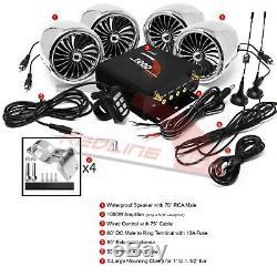 1000w Amp Étanche Bluetooth Stéréo Moto 4 Haut-parleurs Du Système Audio Vtt Utv