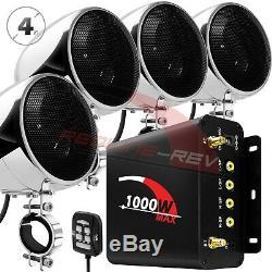 1000w Amp Stéréo Bluetooth Étanche Motorcycle Audio Haut-parleurs Mp3 Système Radio