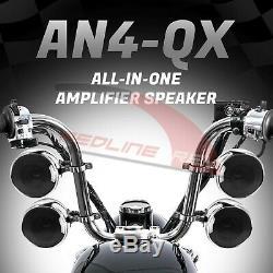 1200w Amp Moto Stéréo Bluetooth Étanche 4 Haut-parleurs Du Système Audio Harley