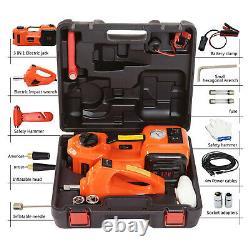 12v 5 Ton Voiture Électrique Hydraulique Floor Jack Avec Impact Wrench Workshop Garage