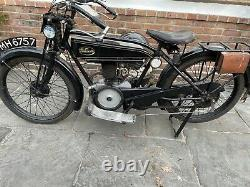 1925 Velocette Modèle B 250 Deux Coups Rare Vintage Moto Vintage Vélo