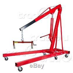 2 Ton Pliage Hydraulique Moteur Grue De Levage Lift Stand + 450 KG Niveleur De Charge