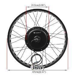 26 1000w 48v Electric Bike Fat Tire Rear Wheel Bicycle Conversion Kit Hub Motor