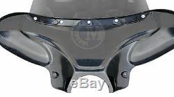34 Moto Universal Cruiser Aile De Chauve-souris Batwing Carénage Avant Avec Pare-brise