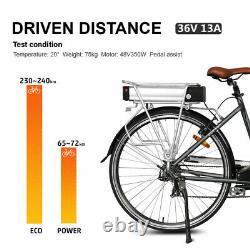 36v 13ah E-bike Batterie Vélo Avec Porte-bagages Arrière Support Rack Fit Moteur 36v 500w
