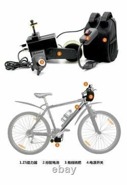48v 200w Vélo Speed Booster Kit Friction Drive Motor Electric Bike Uk Gratuit