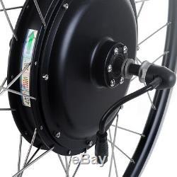 48v1000w Vélo Électrique E-bike Conversion Kit Hub Arrière Du Moteur 26 Roue Noir