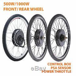 500 / 1000w 26 Conversion Vélo Électrique Kit De Moteur Avant / Arrière Roue E Vélo Pas