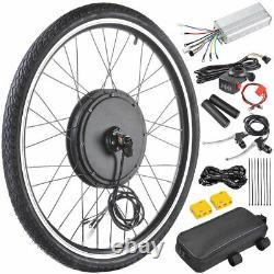 500w 26 Front Wheel Electric Bicycle Motor Kit E-bike Conversion Cycling Hub Royaume-uni