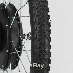 500w Vélo Électrique E Vélo Kit De Conversion Moteur 26 Roue Avant Pouce D'accélérateur