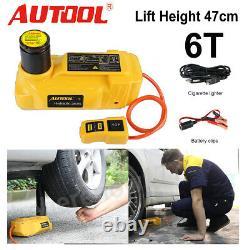 6t Auto Jack Portable Hydraulic Electric Floor Lift Jacks Car Emergency Tool 12v