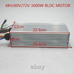 72v 3000w Bldc Kit Moteur Avec Contrôleur Sans Brosse Pour Vélo Électrique Scooter E