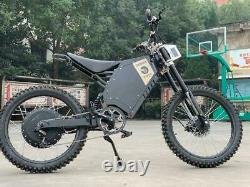 72v 5000w Adulte Electric Full Suspension Off-road E Dirt Bike Motorcycle 45 Mph