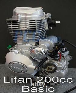Air Cool Lifan 200cc 5 Moteur Engin Engin Motocycle Dirt Bike Atv P En25-basic
