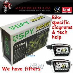 Alarme & Spy Moto Moto Antidémarrage + Rechargeable LCD Distants Pager