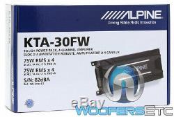 Alpine Kta-30fw 75w Rms X 4 Canaux Moto Marine Utv Haut-parleurs Amplificateur Nouveaux