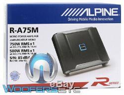 Alpine R-a75m Monobloc Car Audio 750w Rms Caisson De Graves Haut-parleurs D'ampli Basse Nouveaux