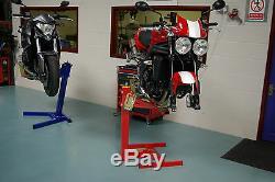 Ascenseur Moto, Moto Pied, Eazyrizer Originale Rouge, Garanti Pour La Vie