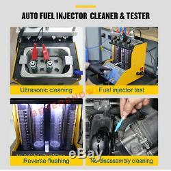 Autool Ct150 Nettoyeur À Ultrasons Injecteur De Carburant Testeur Pour Voiture Moteur 4 Cylindres Us