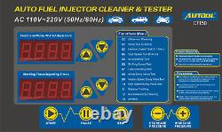 Autool Ct150 Nettoyeur Testeur D'injecteur De Carburant Ultrasonique Pour 12v 24v Car Van Motor