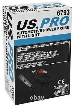Bergen Automotive Power Probe 2-24 Volt Digital Multi Tester Circuit Tester 5m L