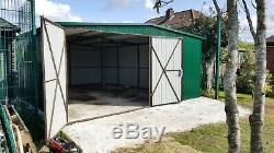 Big Stockage 17x22ft Garage Shed Robuste Moto Secure Unité Atelier Acier Safe