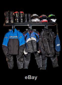 Bikertidy Moto Sols De Rayonnage De Stockage De Casque Moto Veste Vêtements