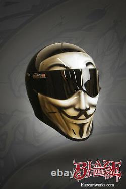 Casque De Moto Vendetta Matrix Street Fx Peint Sur Mesure