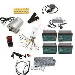 Complète 48v 1800w Moteur Brushless Kit Batterie Vélo Électrique Scooter