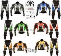 Couleur Dynamic Range Hommes Moto / Moto Veste En Cuir Pantalon Costume