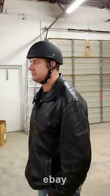 Crazy Al's World's Petit Lightest Soa Style Dot Flat Black Half Helmet