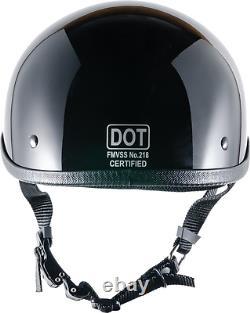 Crazy Al's World's Petit Lightest Soa Style Dot Gloss Black Half Helmet