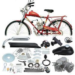 Cycle 2 Temps Moteur Silencieux Motorisé Vélo Bicycle Moteur Kit Gaz Pour 80cc